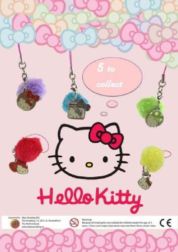 65mm - Hello Kitty Pom Pom Cdu x 18